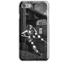 Steampunk Blaze BW iPhone Case/Skin