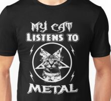 MY CAT LISTENS TO METAL Unisex T-Shirt