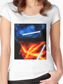 Battle Together Women's Fitted Scoop T-Shirt