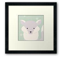 Polar baby fox Framed Print