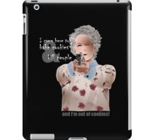 Carol is out of cookies on black iPad Case/Skin