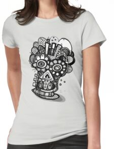 All Nighter - Day of The Dead Mask  Womens Fitted T-Shirt