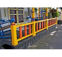 Porch Ladder Photographic Print