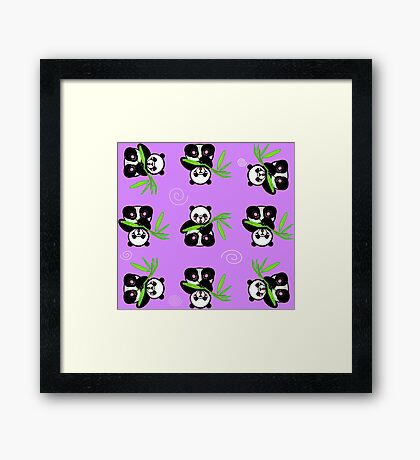 Panda wallpaper Framed Print