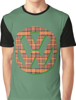 VW Logo in Westfalia Plaid Graphic T-Shirt