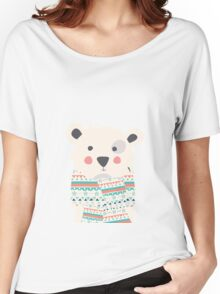 Cute polar bear with scarf Women's Relaxed Fit T-Shirt