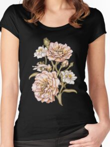 Pink Country Rose Women's Fitted Scoop T-Shirt