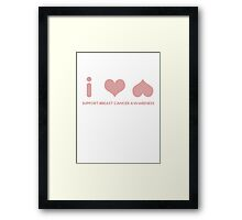 Breast Cancer Awareness Graphic Tee 2 Framed Print