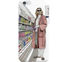 Jeffrey Lebowski and Milk. AKA, the Dude. iPhone Case/Skin