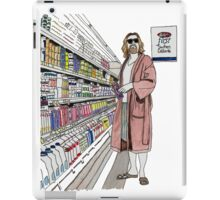 Jeffrey Lebowski and Milk. AKA, the Dude. iPad Case/Skin