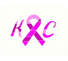 KC Breast Cancer Awareness Art Print