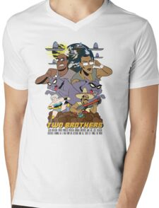 Two Brothers Mens V-Neck T-Shirt