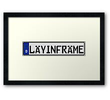 Euro Plate - LAYINFRAME Framed Print