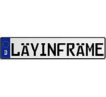 Euro Plate - LAYINFRAME Photographic Print