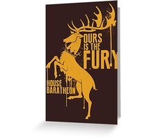 House Baratheon Shirt Game of Thrones Greeting Card