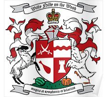 Willy Nilly Coat of Arms Poster