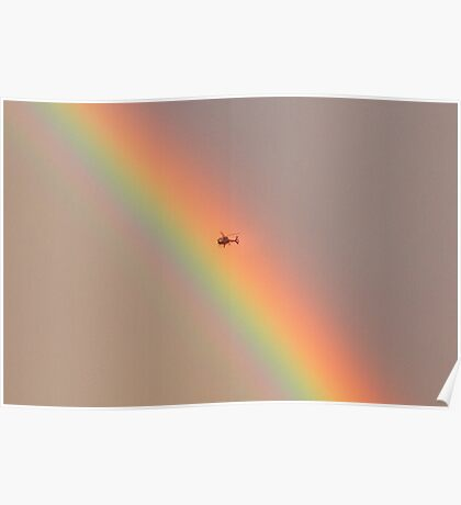 I wonder what it is like to touch a rainbow? Poster