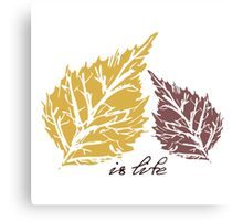 Pattern with leaves. Autumn background Canvas Print