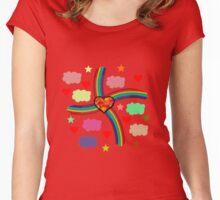 Rainbow Love Utopia Women's Fitted Scoop T-Shirt