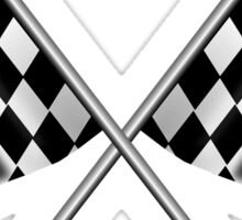 Checkered Flag, Crossed, WIN, WINNER, Chequered Flag, Racing Cars, Race, Finish line Sticker