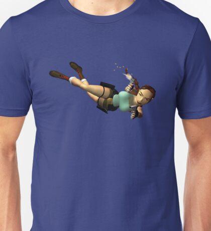 LARA CROFT - Double Pistols Action Unisex T-Shirt