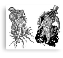 Frank 'n' Hank - Frankenstein, Jekyll & Friends... Canvas Print