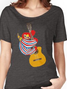 Bowie Sloth Vintage Guitar Women's Relaxed Fit T-Shirt