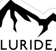TELLURIDE COLORADO Ski Skiing Mountain Mountains Skis Silhouette Snowboard Snowboarding Sticker