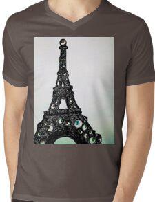 Full Color Eyeful Tower Mens V-Neck T-Shirt