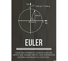 Euler - Mathematician Posters Photographic Print
