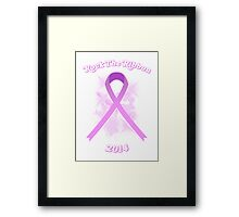 Breast Cancer Awareness Graphic Tee 3 Framed Print