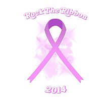 Breast Cancer Awareness Graphic Tee 3 Photographic Print