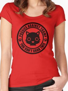 Cute Pussies Against Trump Women's Fitted Scoop T-Shirt