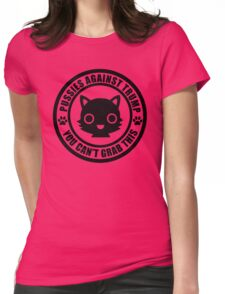 Cute Pussies Against Trump Womens Fitted T-Shirt