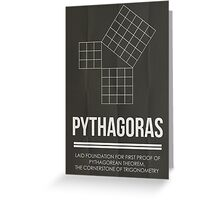 Pythagoras - Mathematician Posters Greeting Card