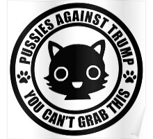 Cute Pussies Against Trump Poster