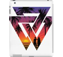 surfing with cool shape iPad Case/Skin