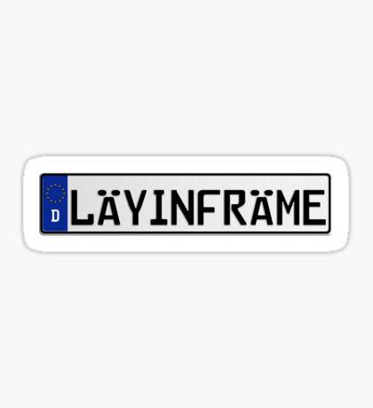 Euro Plate - LAYINFRAME Sticker