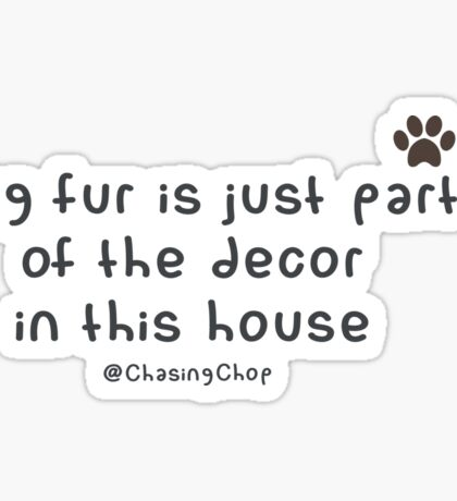Dog fur Sticker