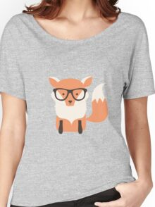 Hipster fox in the forest Women's Relaxed Fit T-Shirt