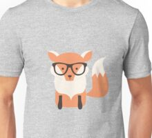 Hipster fox in the forest Unisex T-Shirt