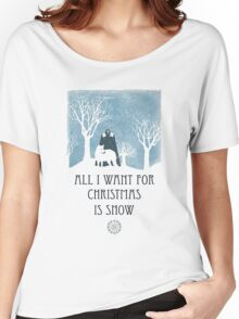 All I Want For Christmas Is Snow Game Shirt Women's Relaxed Fit T-Shirt