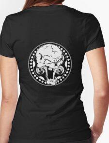 Skull Revolver Womens Fitted T-Shirt