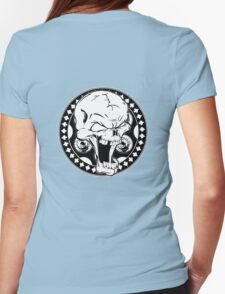 Skull Revolver Womens Fitted T-Shirt