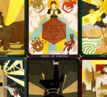 Vox Machina Tarot Card Compilation Sticker