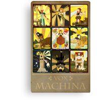 Vox Machina Tarot Card Compilation Canvas Print
