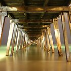 Grange Jetty : A view after dark by BBCsImagery