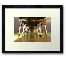 Grange Jetty : A view after dark Framed Print