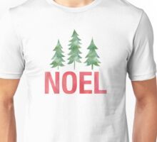 Christmas Trees Watercolor Noel Unisex T-Shirt