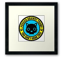 Pussies Against Trump blue Framed Print